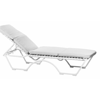 Kahana Outdoor Chaise Cushion Fabric: Sparkling Water