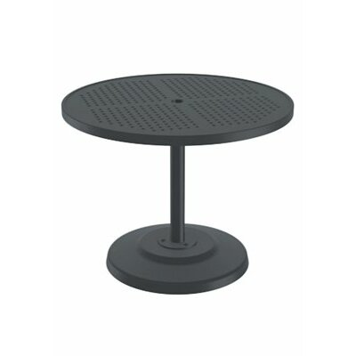 Boulevard Dining Umbrella Table Table Size: 30 L x 30 W, Finish: Snow