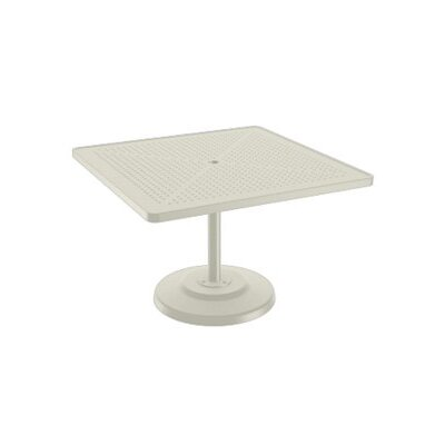 Boulevard Dining Table Table Size: 42 L x 42 W, Finish: Parchment