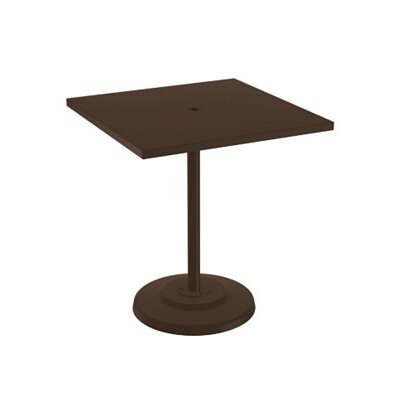 Boulevard Bar Table Finish: Greco, Table Size: 36 L x 36 W