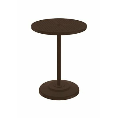 Boulevard Bar Table Table Size: 42 L x 42 W, Finish: Snow