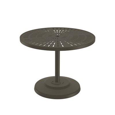 LaStratta Dining Table Finish: Mocha, Table Size: 36 L x 36 W