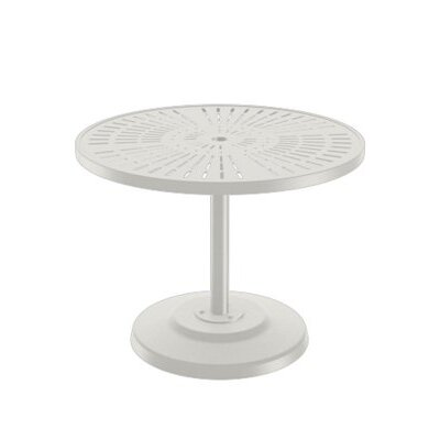 LaStratta Dining Table Finish: Shell, Table Size: 36 L x 36 W