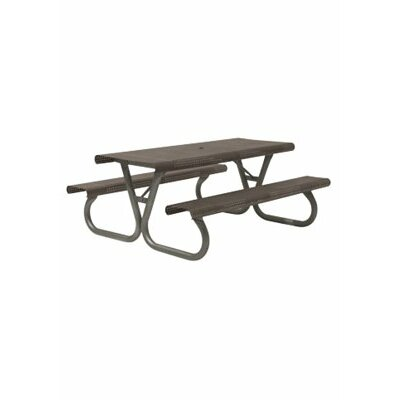 Site Furnishings Picnic Table Base Finish: Pewter