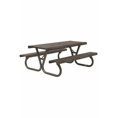 Site Furnishings Picnic Table Base Finish: Bronze