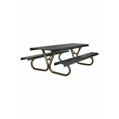 Site Furnishings Picnic Table Base Finish: Brown
