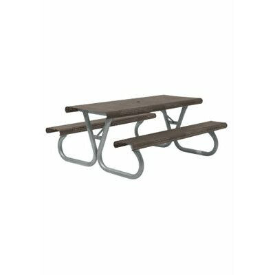 Site Furnishings Picnic Table Base Finish: Silver
