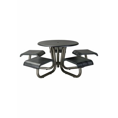 Site Furnishings Picnic Table Base Finish: Black