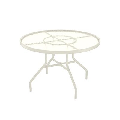 Dining Table Table Size: 42 L x 42 W, Finish: Parchment