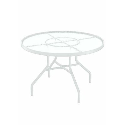 Dining Table Table Size: 42 L x 42 W, Finish: Snow