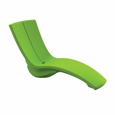 Curve Chaise Lounge with Raiser Finish: Forest Green