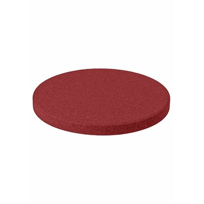 Matrix Round Table Top Finish: Red, Size: 42 L x 42 W