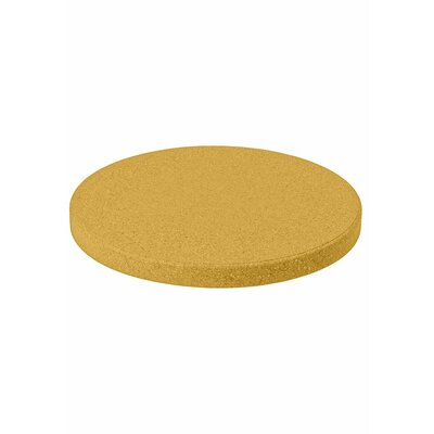 Matrix Round Table Top Finish: Yellow, Size: 36 L x 36 W