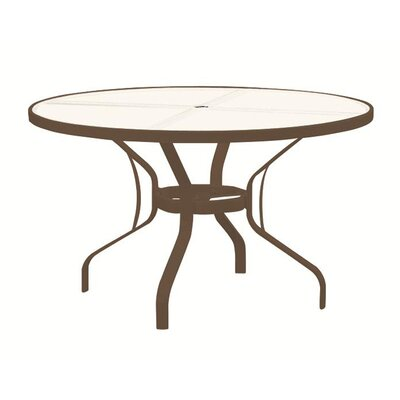 Dining Table with Umbrella Hole Finish: Snow