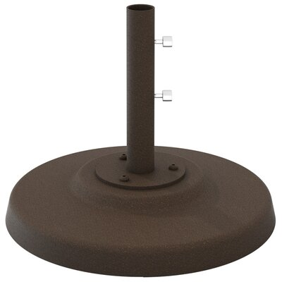 Cement Filled Aluminum Umbrella Base Finish: Obsidian
