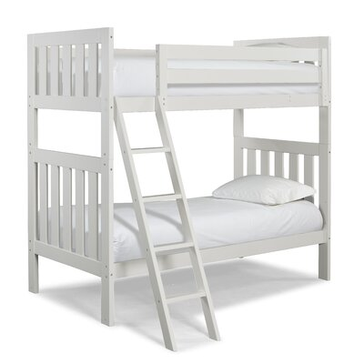 Lakecrest Twin over Twin Bunk Bed Color: White