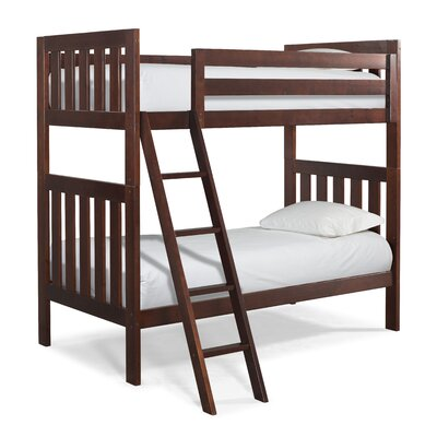 Lakecrest Twin over Twin Bunk Bed Finish: Cherry