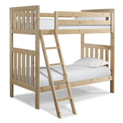 Lakecrest Twin over Twin Bunk Bed Finish: Natural
