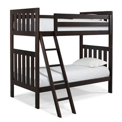 Lakecrest Twin over Twin Bunk Bed Color: Espresso