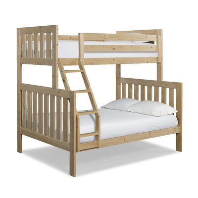 Lakecrest Twin over Full Bunk Bed Finish: Natural