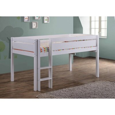 Whistler Junior Twin Low Loft Bed Finish: White