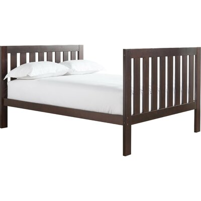 Lakecrest Slat Bed Size: Twin, Color: Espresso