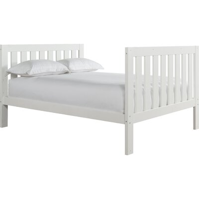 Lakecrest Slat Bed Size: Twin, Color: White