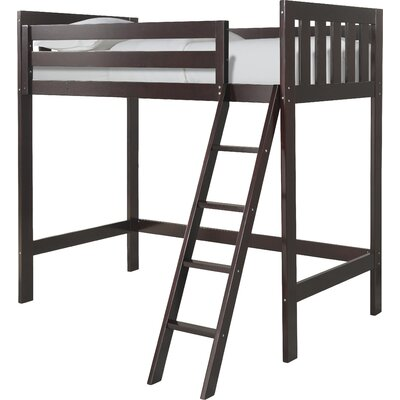 Lakecrest Twin Loft Bed Color: Espresso