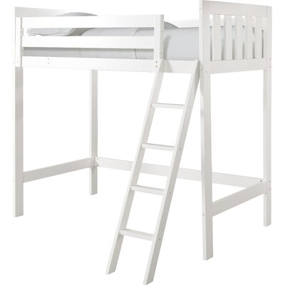 Lakecrest Twin Loft Bed Finish: White
