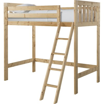 Lakecrest Twin Loft Bed Finish: Natural