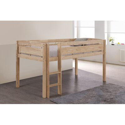 Whistler Junior Twin Bed with Ladder Finish: Natural