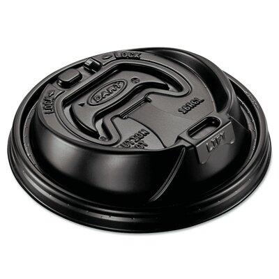 Optima Hot Cup Lids for 12-24 oz. Cups (Carton of 1,000) DCC16RCLBLK