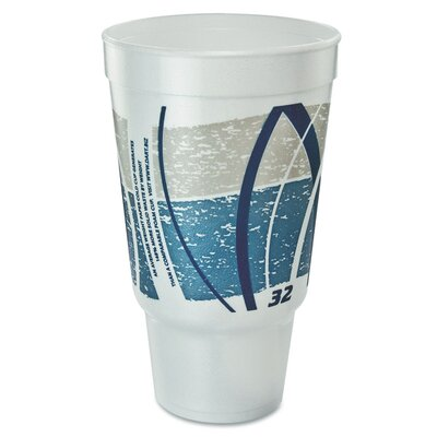Impulse Flush Fill Printed 32 oz. Hot/Cold Foam Drinking Cup (Bag of 16) DCC32AJ20E