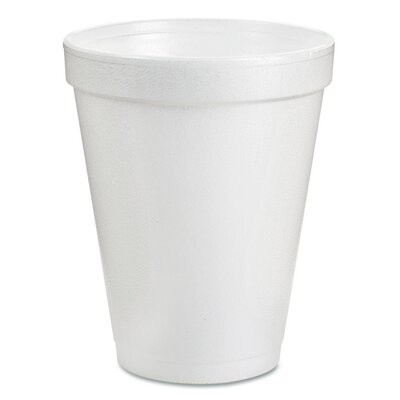Dart Drink Foam Cups, 8oz, White, 25/Pack DCC8J8BG