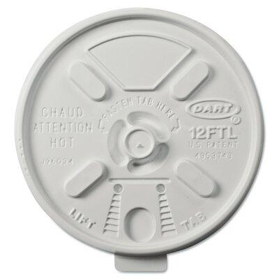 Vented Foam Lids for 10-14 oz. Foam Cups with Lift n' Lock Lid (Carton of 1,000) DCC12FTL