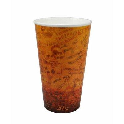 20 Oz Foam Hot / Cold Cups in Brown / Black DCC20U16ESC