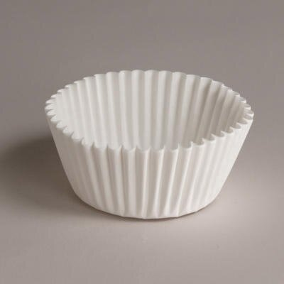 Fluted Bake Cups In White