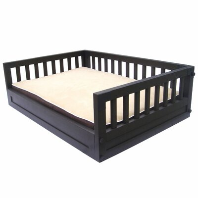 Habitat n Home My Buddys Bunk Pet Bed Size: Large (34.4 W x 23.2 D), Color: Espresso