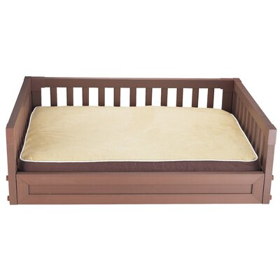 Habitat n Home My Buddys Bunk Pet Bed Size: Large (34.4 W x 23.2 D), Color: Russet