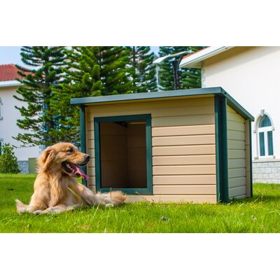 EcoChoice Rustic Lodge Style Dog House Size: Medium (26