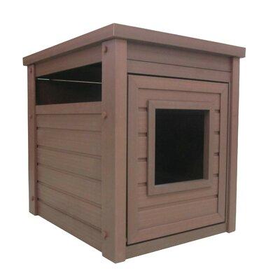 Habitat n Home ecoFLEX Litter Loo End Table Color: Russet