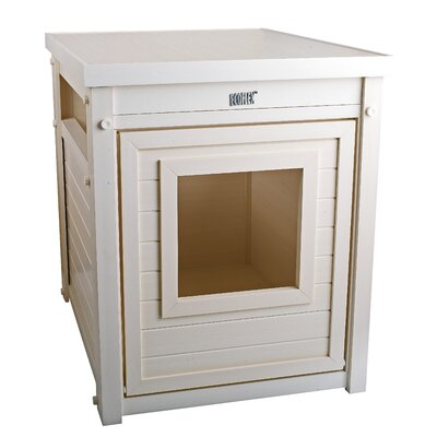 Habitat n Home ecoFLEX Litter Loo End Table Color: Antique White