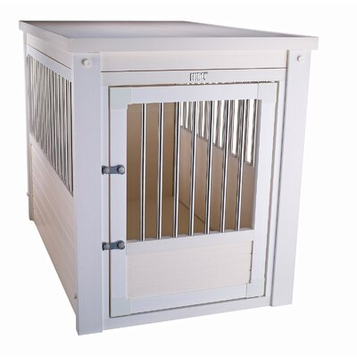 EcoFLEX Pet Crate End Table Size: Medium (25.2 H x 21.1 W x 29.5 L), Color: Antique White