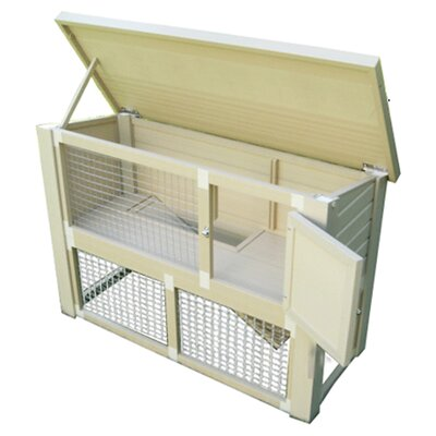 Mateo Rabbit Hutch Color: Tan