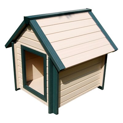 EcoChoice Bunkhouse Style Dog House Size: Small (25.2 H x 21.7 W x 24.4 L)