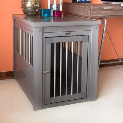 ecoFLEX Crate End Table Size: X-Large (30.9 H x 42.5 W x 27.6 D), Color: Gray