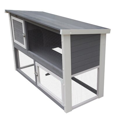 Mateo Rabbit Hutch Color: Grey