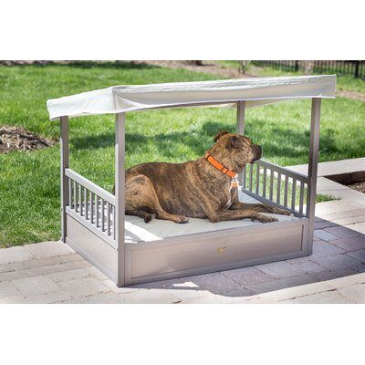 Outdoor Cot with Cover Color: Gray/Natural