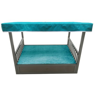 Outdoor Dog Bed with Cover Color: Espresso/Teal