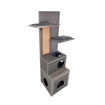 60 Ecoflex Cat Tree Color: Gray